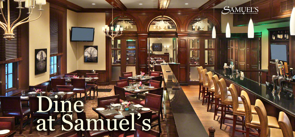 Experience Upscale Dining And Clic New England Fare At Samuel S The Andover Inn We Serve Fine Food Crafted With A Contemporary Twist In Our